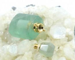 Natural Green flourite  Gemstone Bottle AHA 212