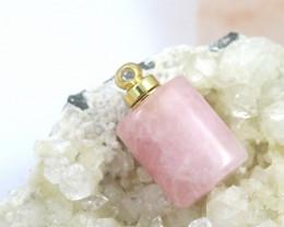 Natural rose quartz  Gemstone Perfume Bottle AHA 240