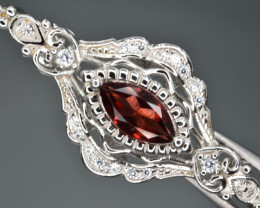 Natural Rhodolite Garnet and 925 Silver Pendant