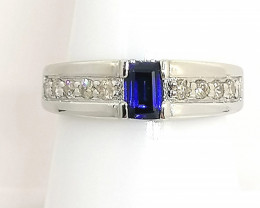 Sapphire and Diamond Ring 0.95ct.
