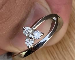 Natural Diamond Ring TCW 0.21.