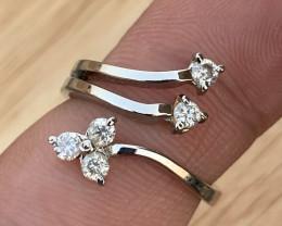 Natural Diamonds Ring TCW 0.42.