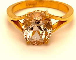 Imperial Topaz 4.58ct Solid 22K Yellow Gold Ring