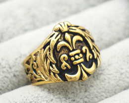 House Crown Ring  -Gold plated Titanium size 8 code CCC 1355