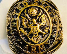 USA Army  Ring -Gold plated Titanium size 8 code CCC 1357