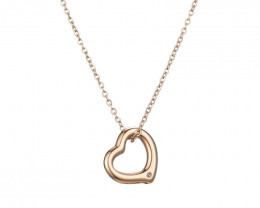 Delicate Lovers Heart Copper plated Titanium Pendant code CCC 1375