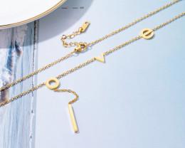 LOVE. Delicate Copper plated Titanium Pendant code CCC 1385