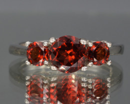 Natural Rhodolite Garnet  and 925 Silver Ring