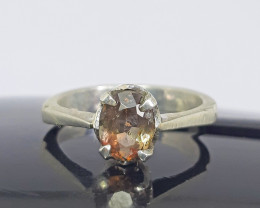 Natural 15.00 Carats multicolor rare axinite 925 Silver Ring.