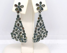 Multicoloured Diamond Earrings 1.00tcw.