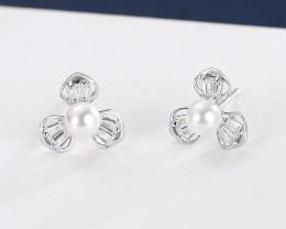 Cute Modern 925 Sterling Silver Earrings CCC 1407