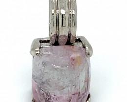BiColor Tourmaline 5.40ct Solid 925 Sterling Silver Pendant