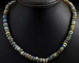 Amazing Flash Labradorite Beads Necklace