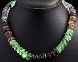 Multicolor Fluorite  Beads Necklace