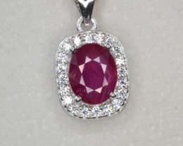 Beautiful Glass Filled Ruby CZ Ring