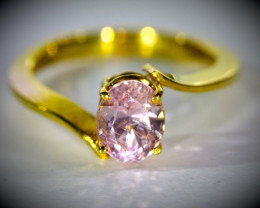 Pink Sapphire 1.50ct Solid 18K Yellow Gold Ring