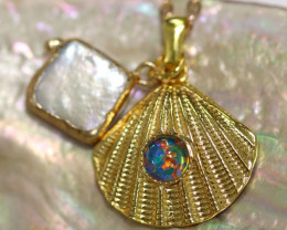 Sea Collection -Pearl & Opal Shell Pendant  CCC 1432