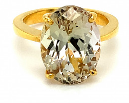 Yellow Tanzanite 9.32ct Solid 22K Yellow Gold Ring