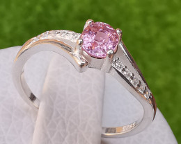 10ct Natural Pink Tourmaline In 925 Sterling Silver Ring