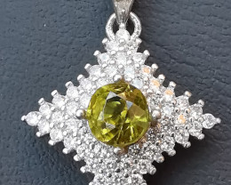 13.50ct Natural Charming Tourmaline In 925 Sterling Silver Pendant.