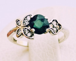 9.70ct Natural Tourmaline in 925 Stweling Silver Ring.