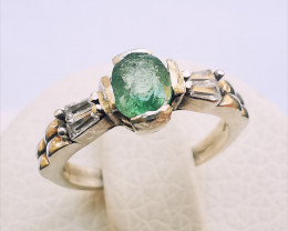 13ct Natural Tourmaline In 925 Sterling Silver Ring.