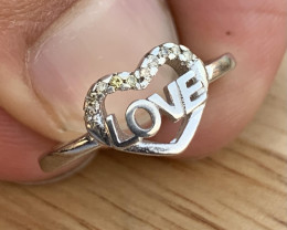 Natural Diamonds Ring TCW 0.07.