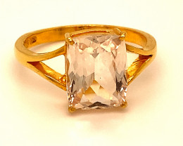Imperial Topaz 5.60ct Solid 22K Yellow Gold Ring