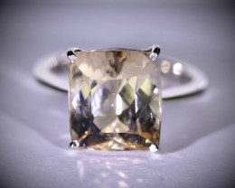Imperial Topaz 11.17ct Solid 18K White Gold Ring