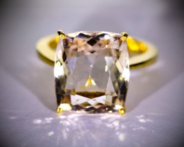 GIA Imperial Topaz 14.39ct Solid 22K Yellow Gold Ring