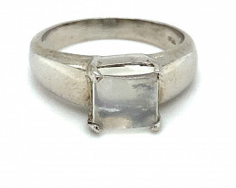 Moonstone 1.70ct Platinum Finish Solid 925 Sterling Silver Ring