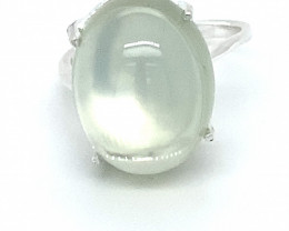 Moonstone 9.60ct Platinum Finish Solid 925 Sterling Silver Ring
