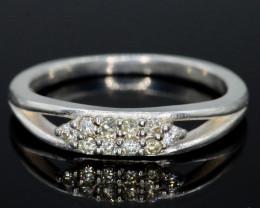 10.70 Ct Silver Ring~ 0.30 ct Natural White Diamond
