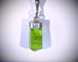 Peridot 9.60ct Solid 925 Sterling Silver Pendant