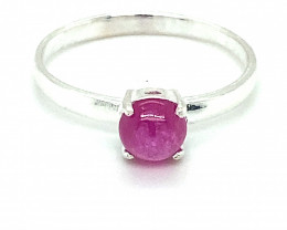 Pink Sapphire 1.70ct Platinum Finish Solid 925 Sterling Silver Ring
