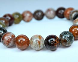10.4mm Natural  MixDesign inside Quartz 19 Pis beads Bracelet#2