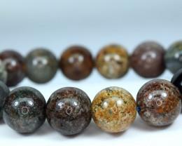 13.5mm Natural MixDesign inside Quartz 16 Pis beads Bracelet#3