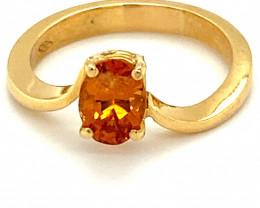 Spessartine 1.56ct Solid 18K Yellow Gold Ring