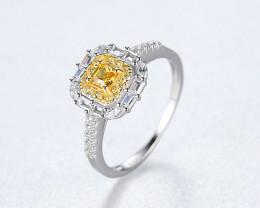 Silver 925 Quailty Sapphire yellow Fashion Ring size 7 code CCC 1498