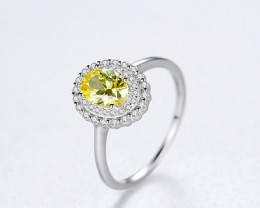 Silver 925 Quailty LEMON QUARTZ  Fashion Ring size 7 code CCC 1524