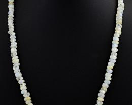 Blue Flash Moonstone Beads Necklace