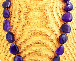 Faceted Amethyst Beads Necklace