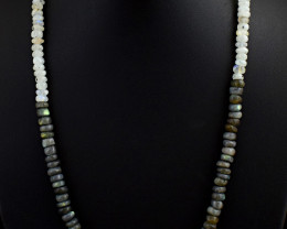 Blue Flash Labradorite & Moonstone  Beads Necklace
