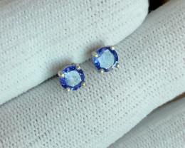 Natural TANZANITE  925 Silver Earring/Stud
