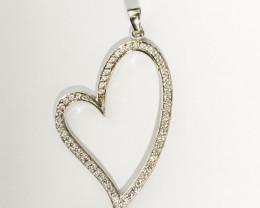 Silver 925 Several Multi Stones ,Nice Heart shape  Pendent