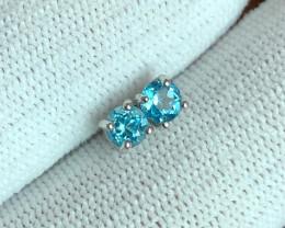 BLUE TOPAZ 925 Silver Stud/Earring by DANI Jewellery