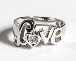 Silver 925  Love sign Ring