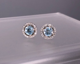 BLUE TOPAZ 925 Silver Stud/Earring by DANI Jewellery