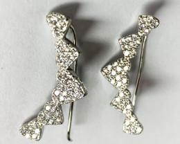 Silver 925  Heart Shape Earring