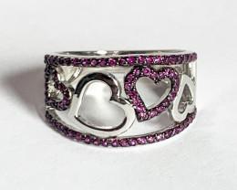 Silver 925  Gorgeous Heart Shape Ring